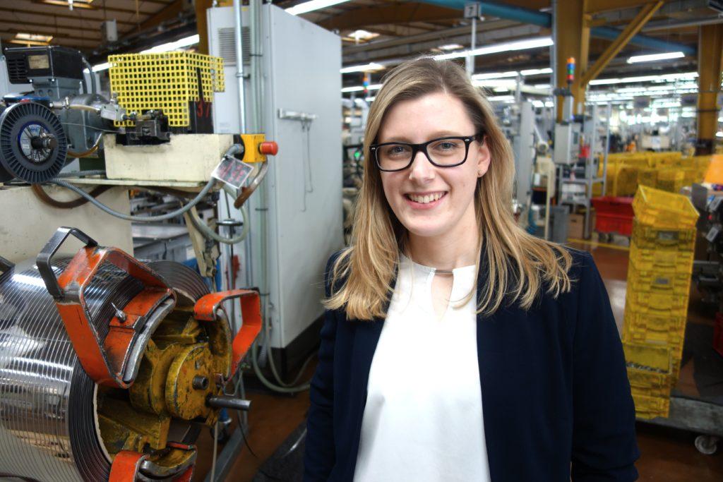 Im vorherigen Job fehlte ihr das Greifbare - das fand Maren Bruns in der Industrie.