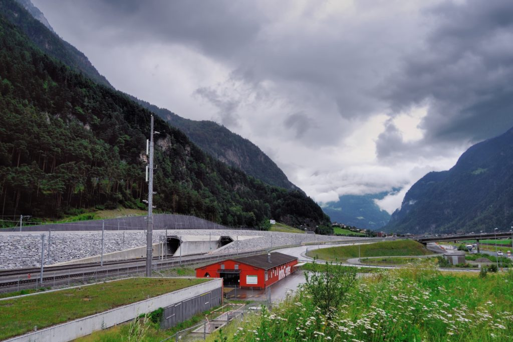 Gotthard Base Tunnel Outside View
