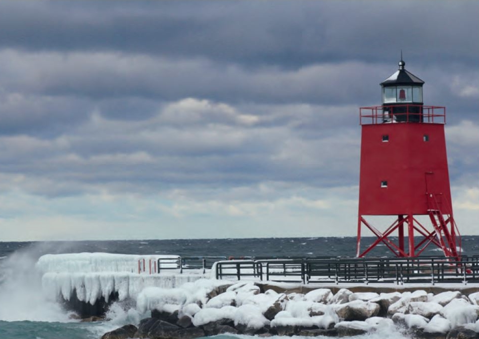 """This photo was taken by our colleague Russ Cranston in Charlevoix, Michigan. He says: """"It is beautiful here in all seasons and I have celebrated many family events there over the last 15 years."""""""