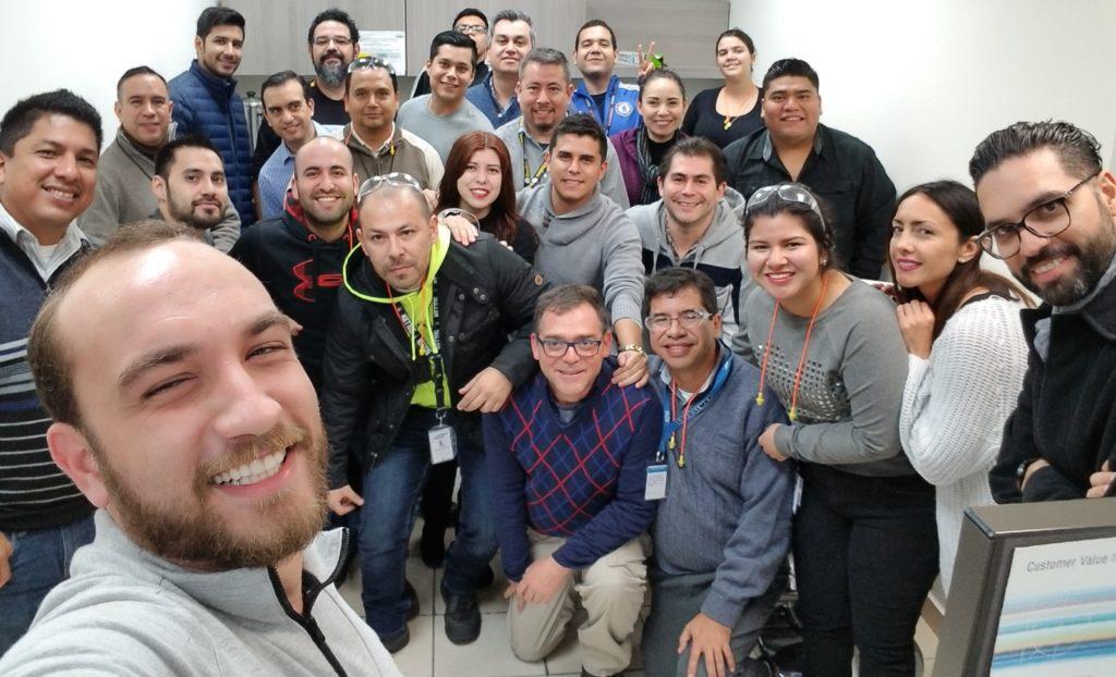 Hussein Faraj and his team in Mexico.