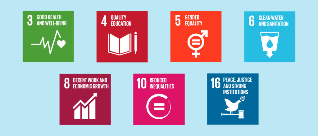 Plan International focuses its work on these seven development goals.