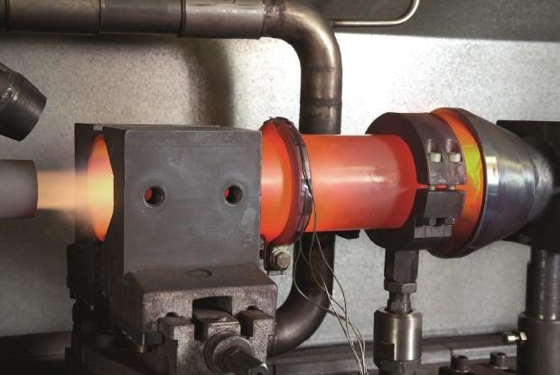 Abgasschelle im Temperaturtest