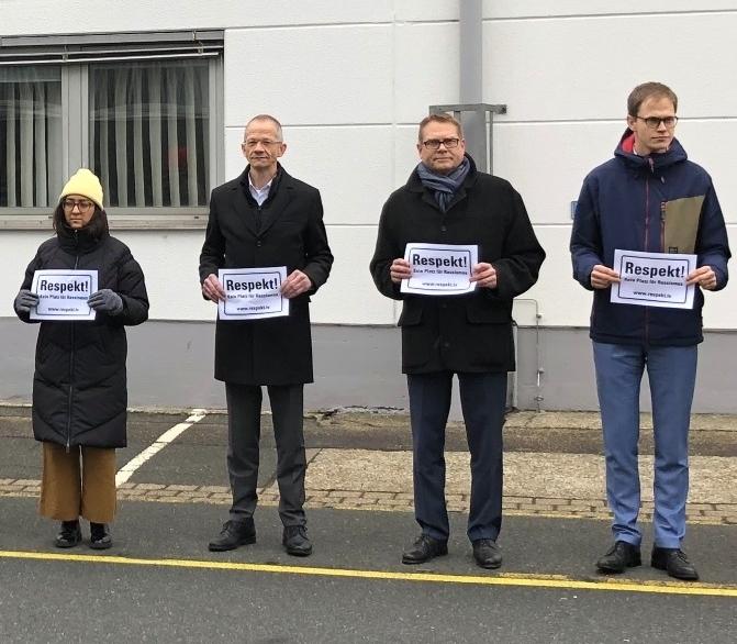 Gedenkveranstaltung für die Opfer des rassistische motivierten Anschlags in Hanau