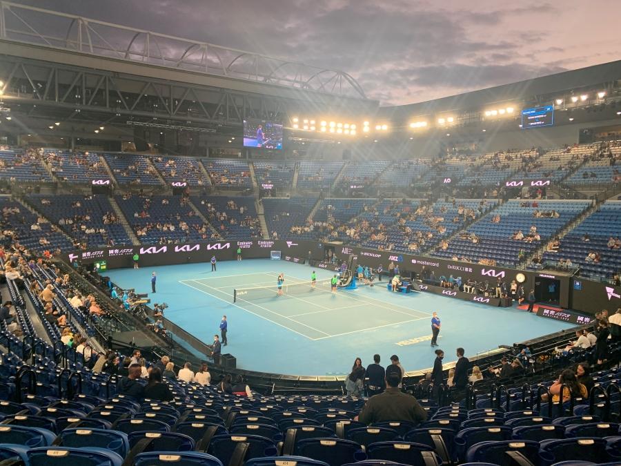Tennisplatz, Stadion, Menschen