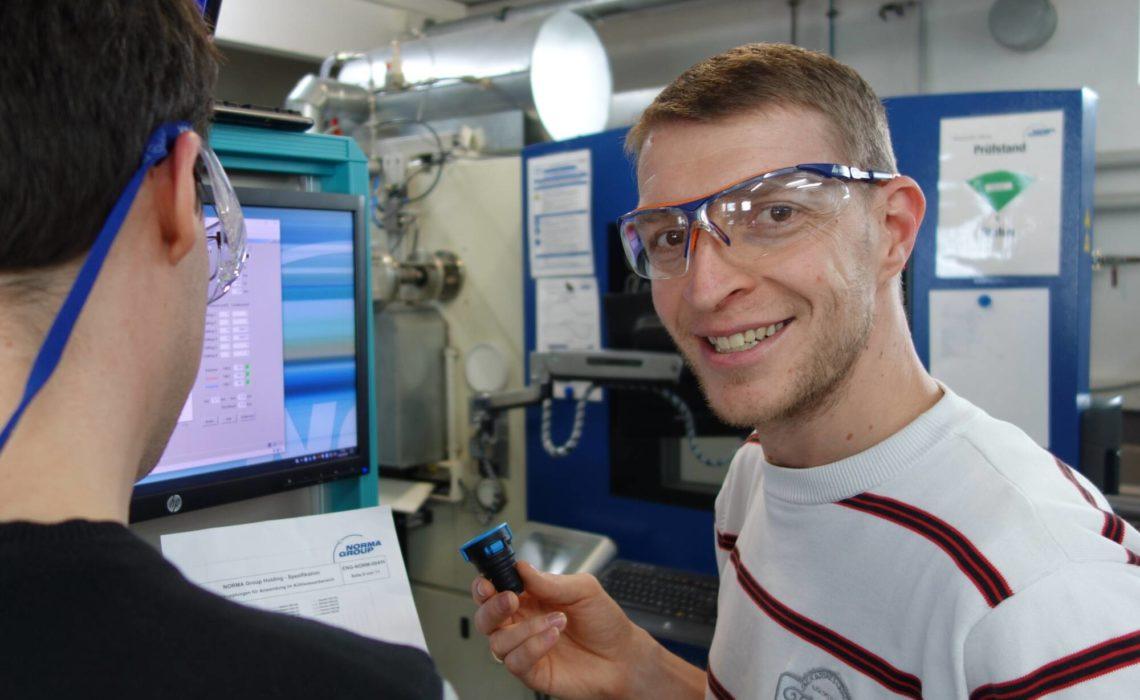 Rene Schindler in a workshop